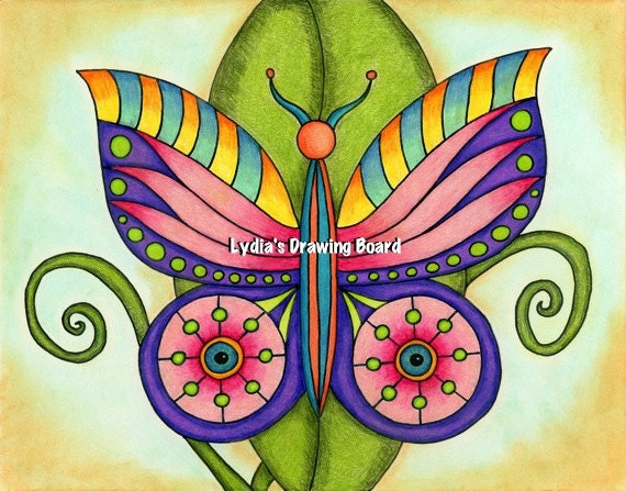 Psychedelic Art, Psychedelic Print, Butterfly Art, Butterfly Print, Butterfly Artwork, Butterfly Art Print, Trippy Art, Hippie Art, Colorful