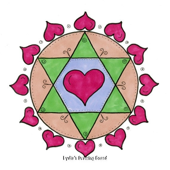 Note Cards, Notecards, Blank Cards, Valentine Card, Valentine, Cards, Love Cards, Mandala Art, Small Art, Mandala, Mandala Print, Heart Art