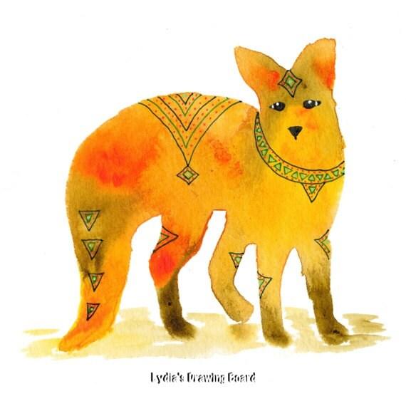 Spirit Animal, Fox, Fox Art, Fox Art Print, Fox Artwork, What Does the Fox Say, Woodland Animals, Woodland Creatures, Fox Wall Art, Animal