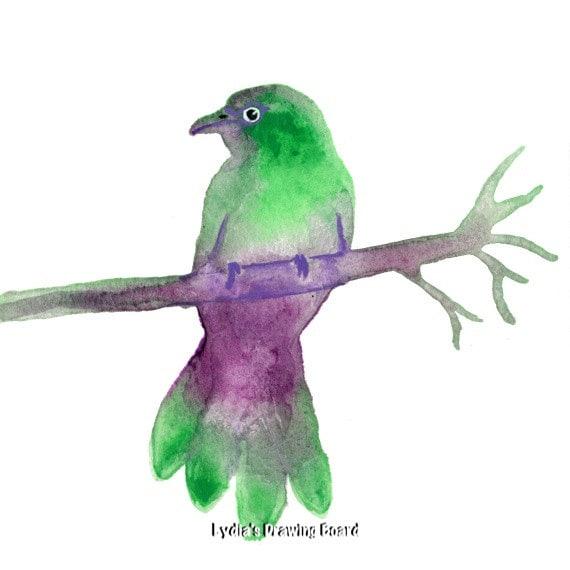 Bird, Bird Art, Nature Art Print, Bird Art Print, Bird Artwork, Bird Wall Art, Bird Decor, Whimsical Art, Nature Art, Nature Artwork