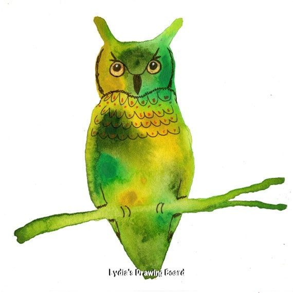 Note Cards, Notecards, Blank Cards, Birthday Card, Owl Art, Owl Artwork, Spirit Animal, Cards, Owl Print, Mystical Art, Small Art, Owl Card