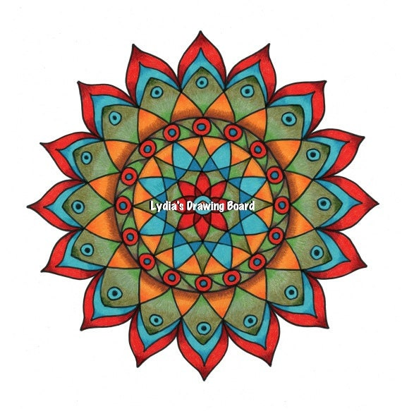 Peacock Art, Peacock Art Print, Mandala Print, Mandala Wall Art, Home Wall Decor, Meditation Art, Yoga Art Print, Energy Art, Geometric Art
