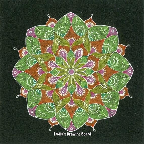 Mandala Art, Mandala Wall Art, Mandala Print,Meditation Art, Yoga Studio Decor, Spiritual, Peaceful Art, Sacred Geometry Art, Yoga, Mandala