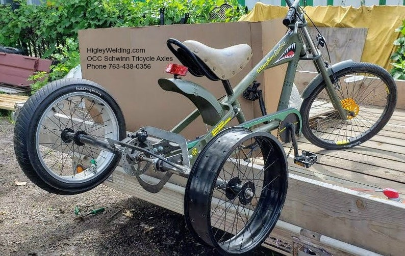 3 Three Wheel Bicycle Axle Conversion Kit -Orange County Chopper