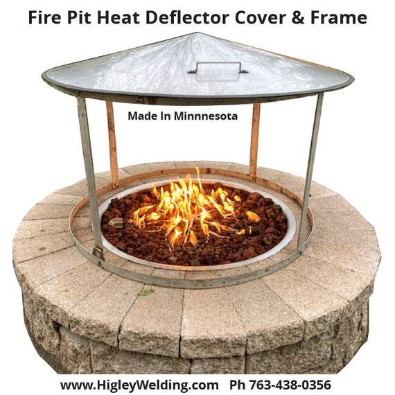 Fire Pit Heat Deflector 39diameter Cover 35 Dia Etsy