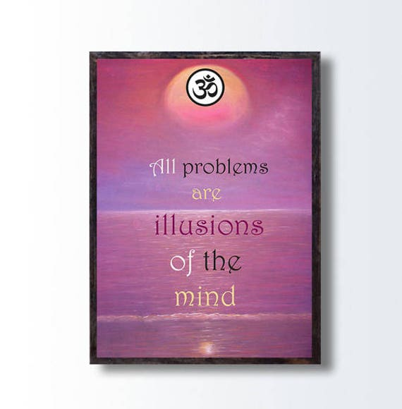 Inspirational Quotes Wall Art Sunset Painting Om Yoga Etsy