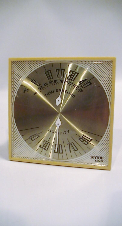 Vintage Taylor Desk Top Wall Mount Weather Barometer Etsy