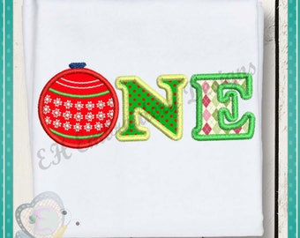 One Christmas Embroidery Applique Design Baby Machine Embroidery Design