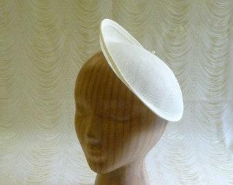 32c8f3d2069 Ivory Fascinator Base Hat Form Upturned Brim for DIY Hat Millinery Supply  Round Shape