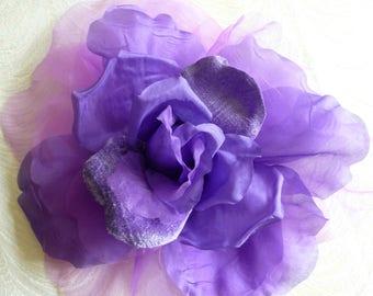 Millinery flowers leaves supplies by apinkswan on etsy grape purple large silk and velvet rose millinery flower for hats gowns weddings home dec fascinators mightylinksfo