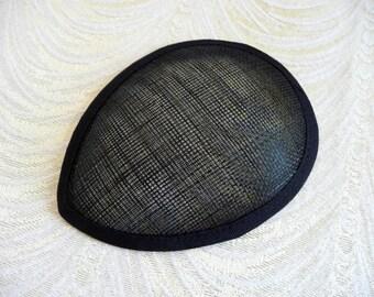 Sinamay base Large Drop fascinator base Hat base Teardrop Hat base Ivory fascinator base- LL1851