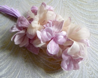 PINK Blue  /& Green Vintage Boutonniere Corsage Nosegay #70 for Boho Weddings Gypsy Hats OOAK