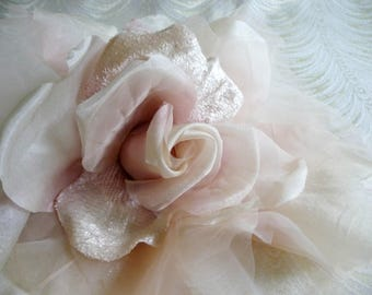 Millinery flowers leaves supplies by apinkswan on etsy blush pink large silk and velvet rose millinery flower for hats bridal gowns weddings home dec fascinators mightylinksfo