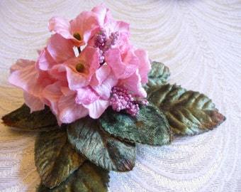 Velvet Flowers Millinery Primrose Bouquet Light Peach Pink Shabby Style for Hats Crafts Weddings 3FN0097P
