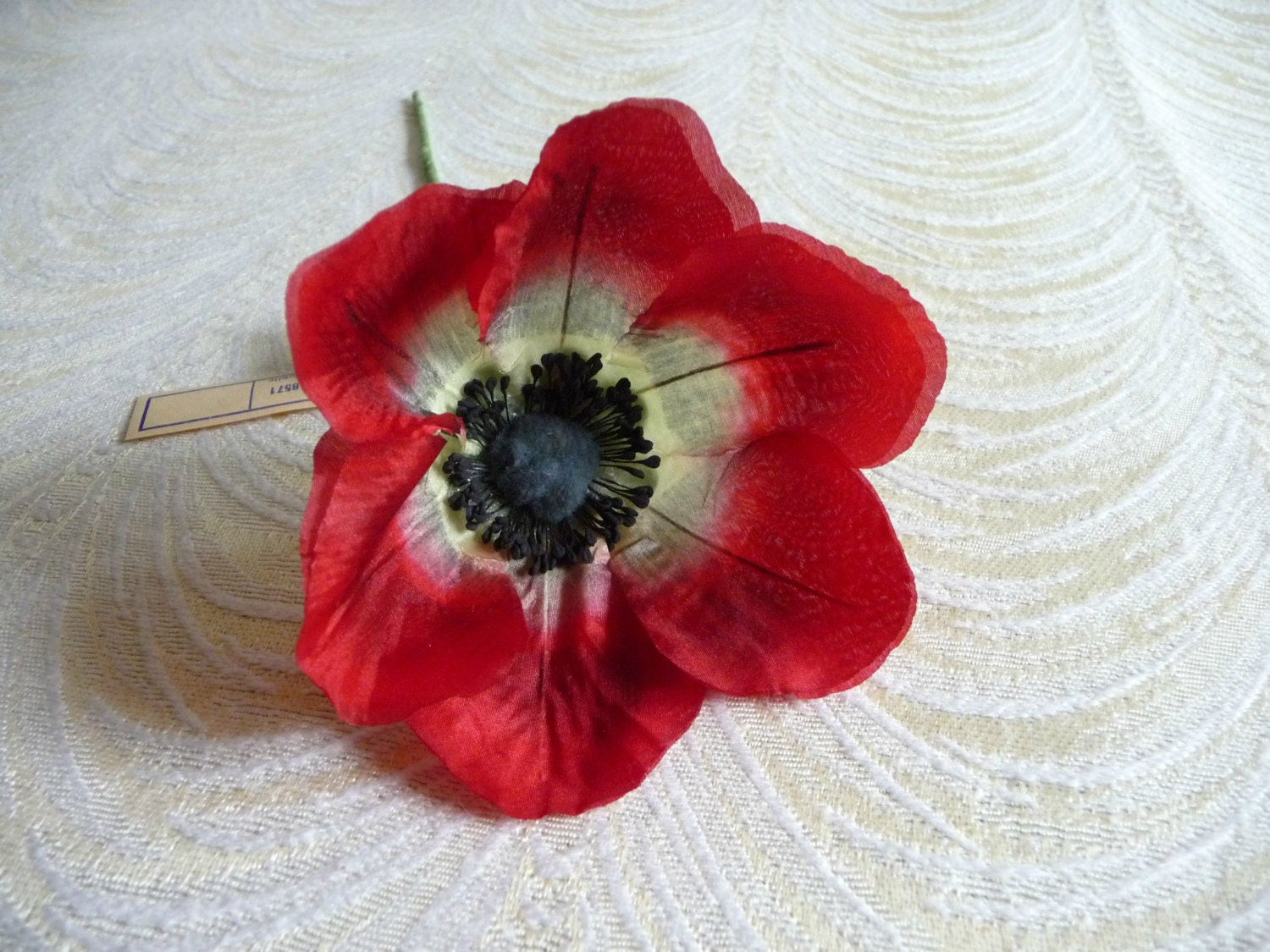 The Perfect Vintage Poppy Red Silk Millinery Flower Nos Etsy