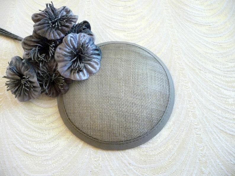 Signature Navy Blue Circular Woven Sinamay Flower Hat Fascinator