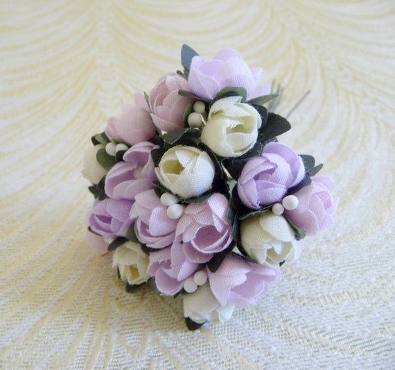 CABBAGE ROSE millinery Vintage style 6 silk DARK PINK roses DOLL HATS  /& crafts