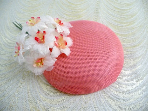 Bubble Gum Pink Fascinator Base Smartie Pillbox Button Style for Hats DIY  Millinery 06fd0cdf3c0