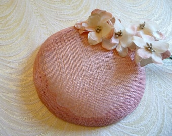 Ballet Pink Fascinator Base Sinamay Smartie Pillbox Button Style for Hats DIY Millinery