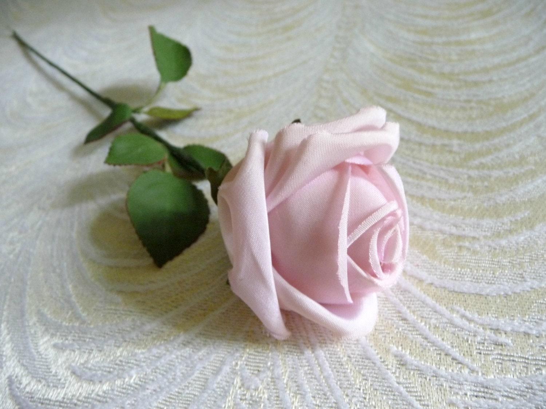Vintage Pale Pink Rose Bud Nos Millinery For Hats Crowns Etsy