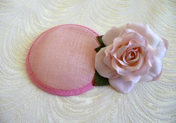 Pink Fascinator Base Sinamay Hat Form for DIY Hat Millinery  eae11ddbd2a