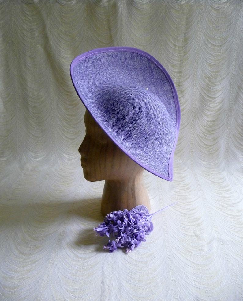 e2b3fdecbbc Large Lavender Hat Base Straw Fascinator Hat Form for DIY Hat