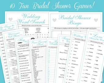 10 blueaqua downloadable bridal shower game ultra collection printables