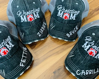 77bb99c7edf Hats   Wrestling mom   Customize with players name