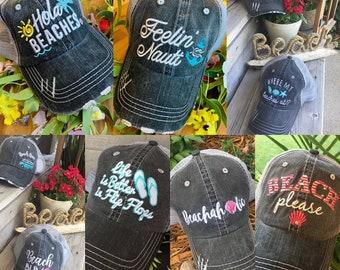 455cc191d581ec Hats. Beach!!! { Beach hair don't care } { Beach bum } and more! Customize!