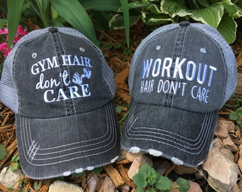 Hat   Gym hair don t care     Workout hair don t care   Necklaces   Strong  is beautiful     I choose strength   Barbell 380dc290234a