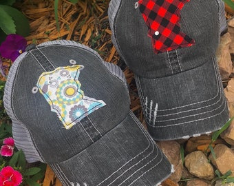 Hats { Minnesota } Pick where you want your Swarovski crystal placed! Your home or lake!