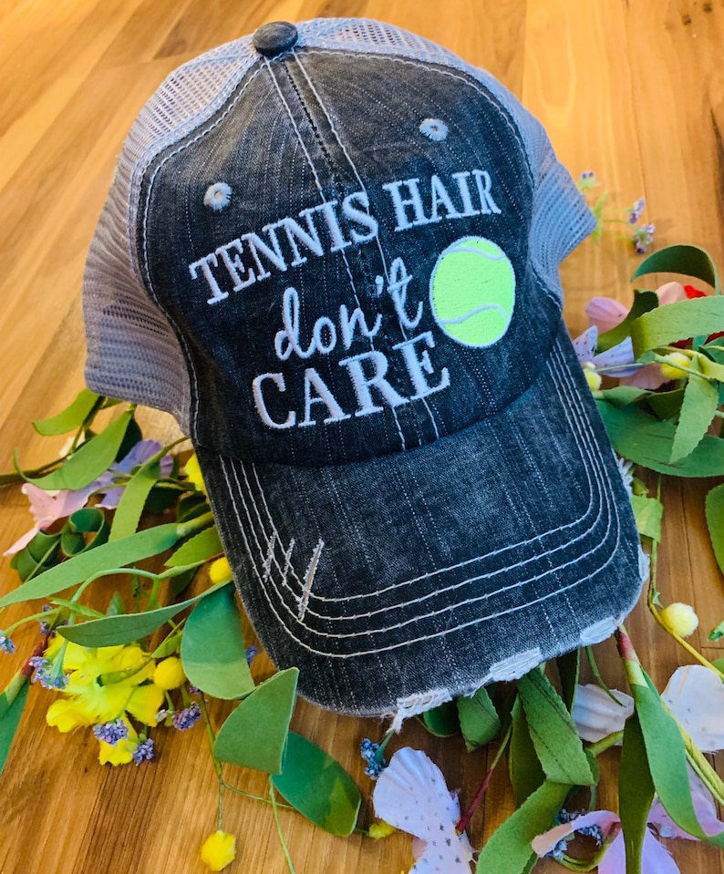 Hats Tennis hair don t care Tennis mom Customize  623e38eb056