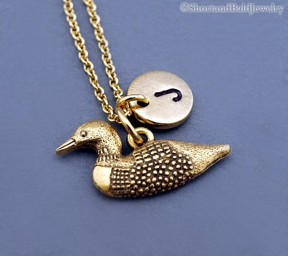 Loon Pewter Charm with Clip Lead Free Made in USA