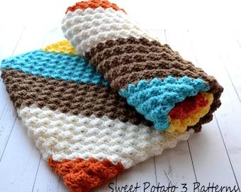 Diagonal Delights Baby Blanket - C2C - Crochet Pattern