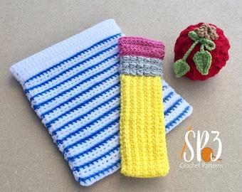 Teacher Take Note - Snap Pouch - Back to School - Teacher Appreciation - Crochet Pattern