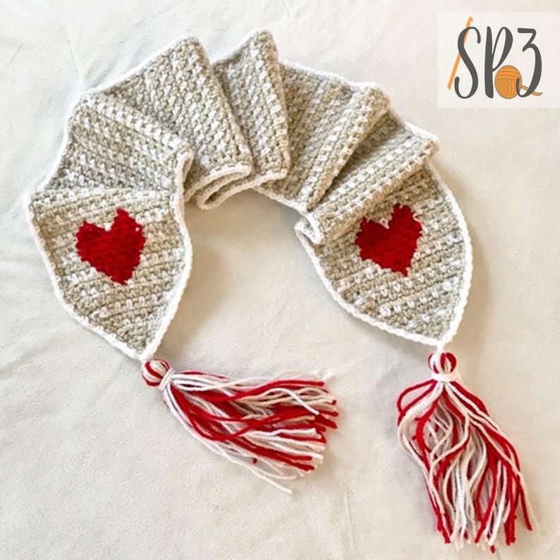 Hearts Of Love Scarf  Crochet Pattern image 0
