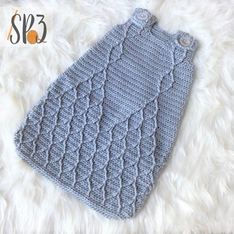 Harlequin Infant Sleeper  Crochet Pattern image 0