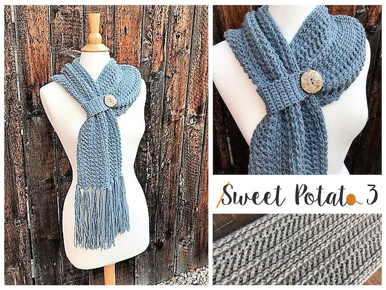 Winter Wishes Scarf Crochet Pattern image 0