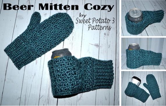 Beer Thirty Mitten Cozy Crochet Pattern Etsy