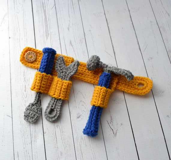 Pattern Tool Belt Toy Hammer Wrench Screwdriver Crochet Etsy