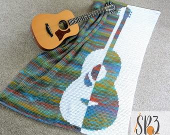 Grandioso Guitar Blanket - Crochet Pattern