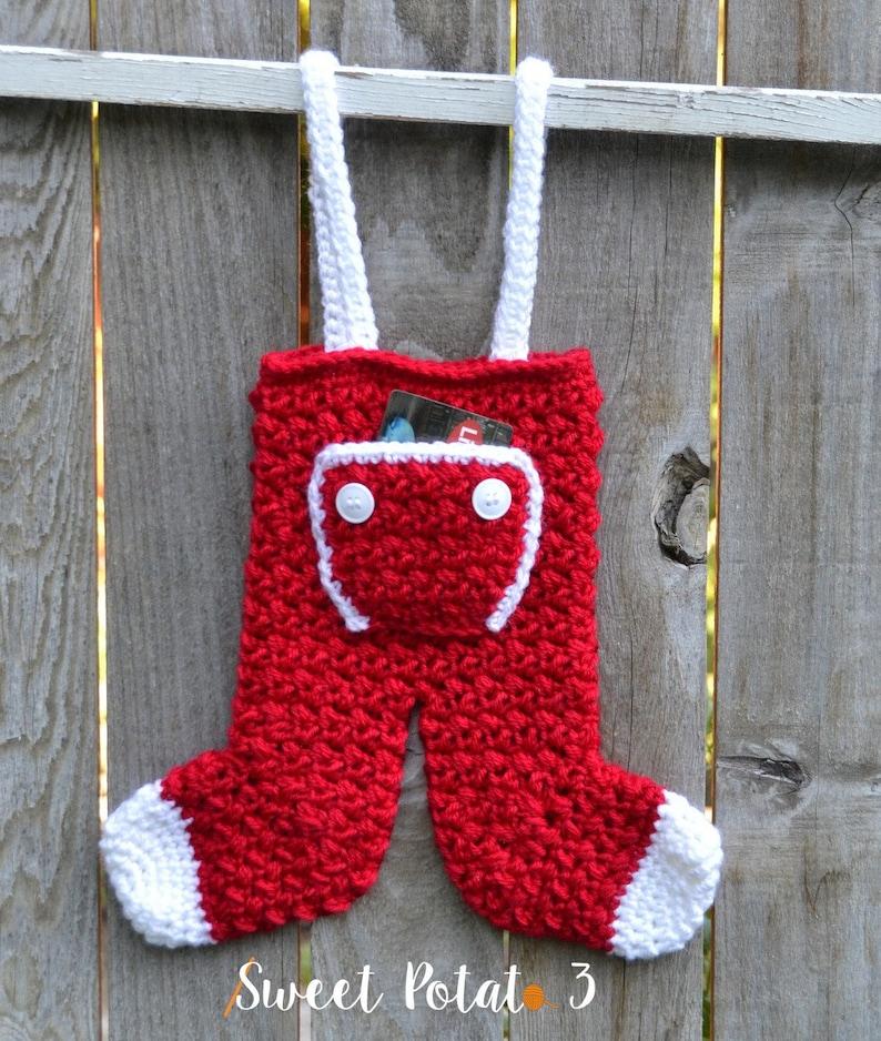 Long John Christmas Stocking  Crochet Pattern image 2