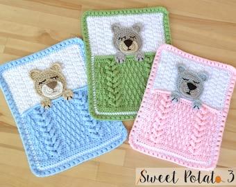 Sleep Tight Teddy Bear Lovey - Crochet Pattern