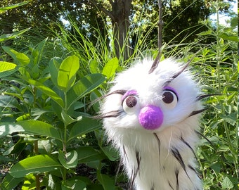 Professional Puppets, Fur Hand Puppet Puppet Show, Puppet Theater, Monster Puppet, Teacher Gift for Zoom, Practice Puppet Ready to Ship