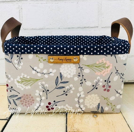 Floral Fabric Catch-All Basket