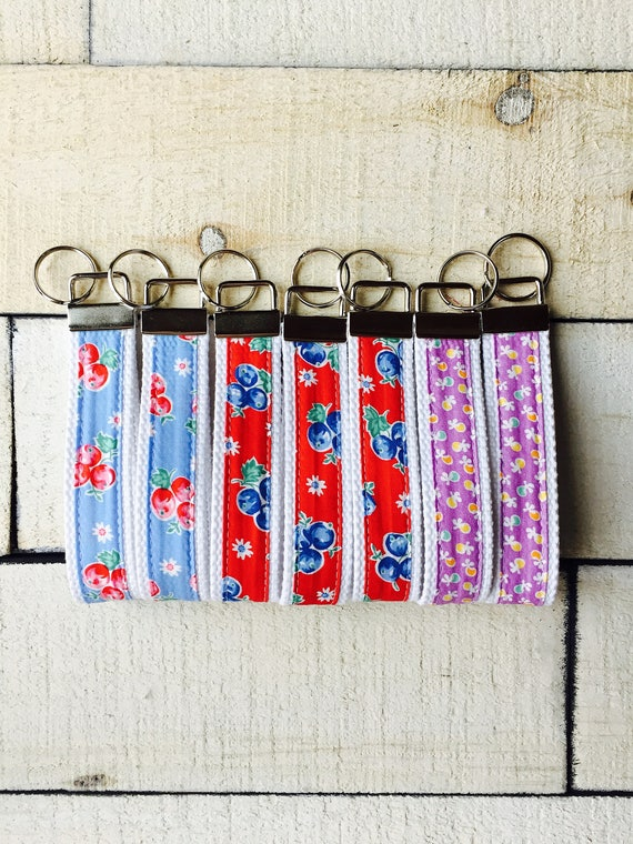 Keychain, Fabric and Webbing Key Chain, Key Fob, Makes a Great Gift, Birds of Liberty, Darlene Zimmerman Fabric