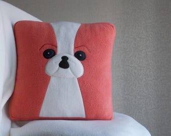 Japanese chin, Chin dog, Japanese Chin dog, Red Japanese Chin, red white Chin dog, red Japanese Chin pillow, red Japanese Chin gift, SALMON