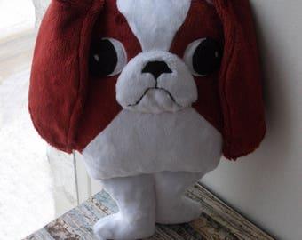 Chin Dog Japanese Chin Shih Tzu Red Dog Plush Dog Etsy