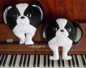 Japanese chin, Chin, stuffed animal, stuffed dog, children's toy, plush animal, plush dog, chin dog toy, japanese chin toy, MODEL 1
