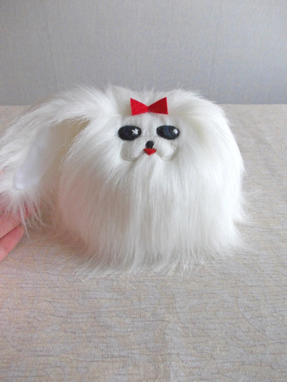 White Pekingese Dog Toy Shih Tzu Dog Toy Maltese Dog Toy Etsy